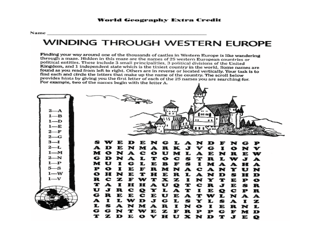 worksheet Europe Worksheets winding through western europe 5th 8th grade worksheet lesson planet
