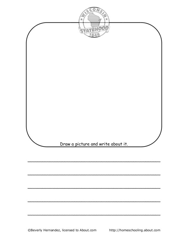 Worksheets Draw And Write Worksheet wisconsin draw and write 1st 4th grade worksheet lesson planet