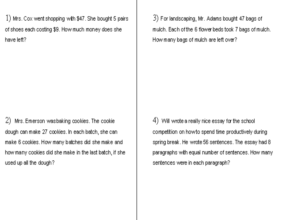 Worksheet Dividing Word Problems worksheet 612792 multiplication and division word problems of money worksheets long for 4th worksheets