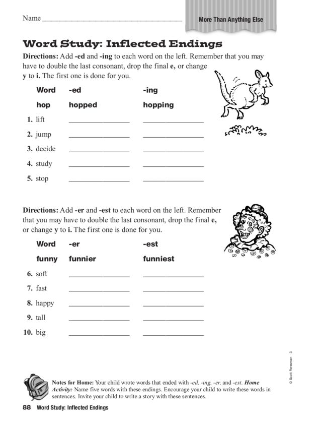 Worksheet Inflectional Endings Worksheet inflected endings worksheet pichaglobal word study 4th 5th grade lesson