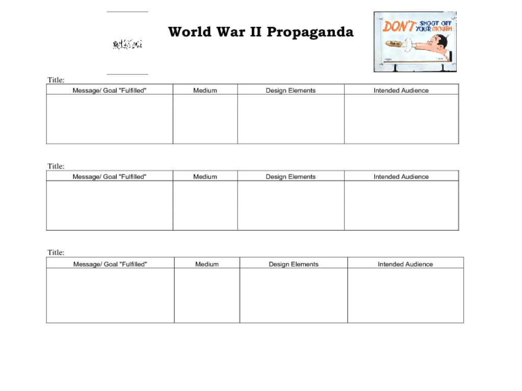 Printables Propaganda Techniques Worksheet Answers Gozoneguide – Wwii Worksheets