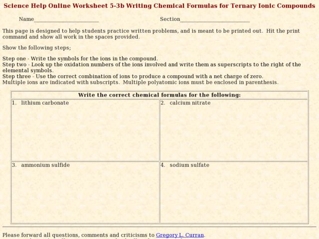 Printables Ternary Ionic Compounds Worksheet writing chemical formulas for ternary ionic compounds 9th 12th grade worksheet lesson planet