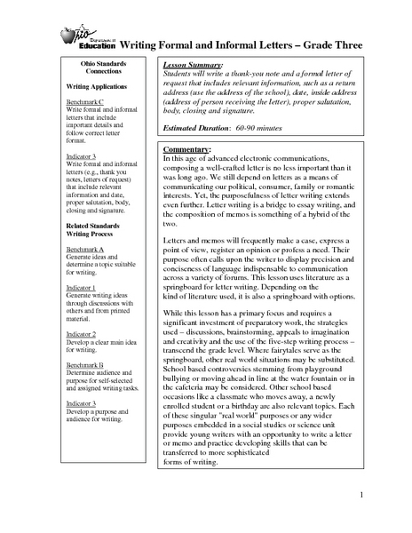 Formal Letter Writing Ks2 Lesson Plan Cover Letter For You