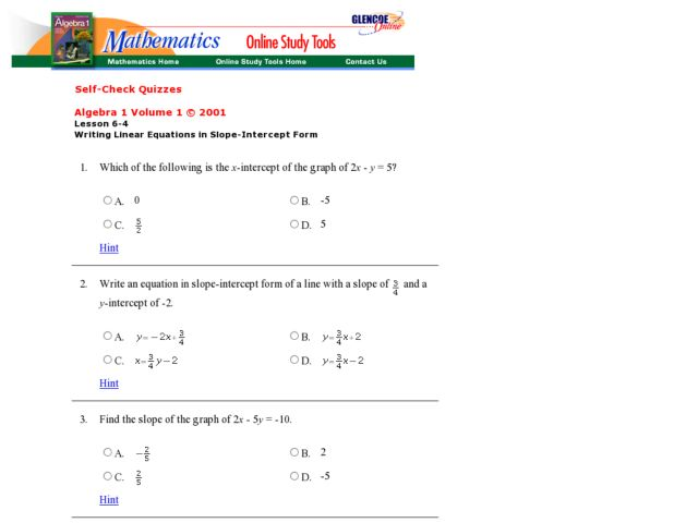 Writing equations homework – Writing Equations of Lines Worksheet