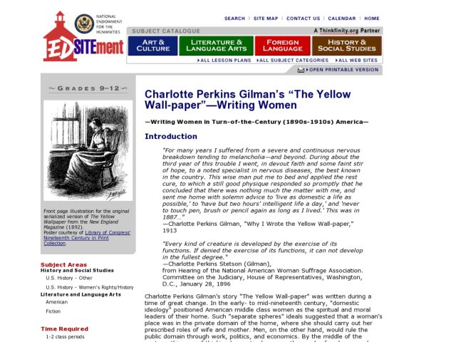 Yellow wallpaper essay