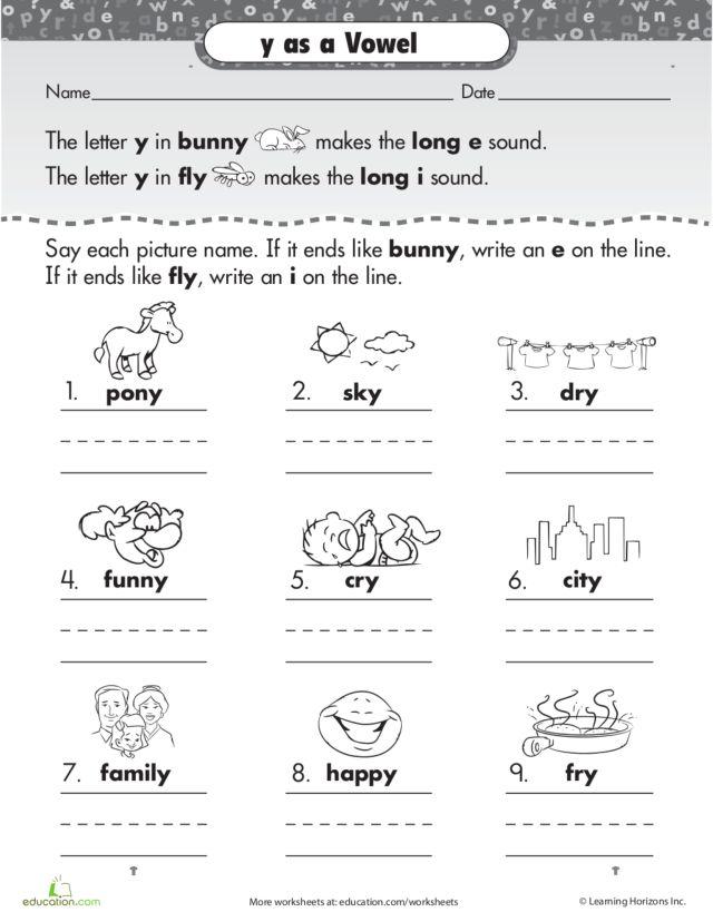 {Y As A Vowel Worksheet Free Worksheets Library – Y As a Vowel Worksheets