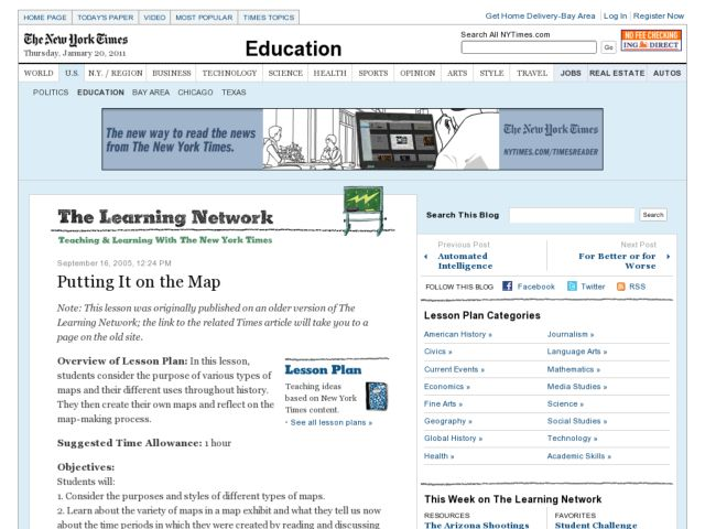 Putting It on the Map Lesson Plan
