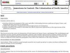 Jamestown in Context: The Colonization of North America Lesson Plan