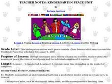 KINDERGARTEN PEACE UNIT Lesson Plan