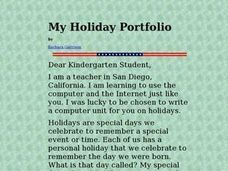 My Holiday Portfolio Lesson Plan