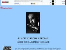 Black History Special: Inside the Harlem Renaissance Lesson Plan
