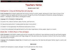 Living and Working Now and Long Ago Lesson Plan