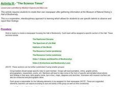 """The Science Times"" Lesson Plan"