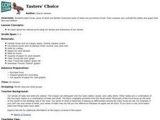Tasters' Choice Lesson Plan