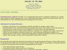 Geology in the News Lesson Plan