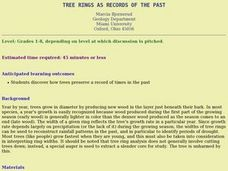 Tree Rings As Records of the Past Lesson Plan