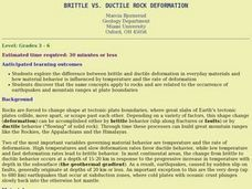 Brittle Vs. Ductile Rock Deformation Lesson Plan