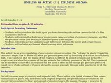 Modeling an Active (!!) Explosive Volcano Lesson Plan
