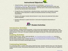 Dinosaurs - Physical Characteristics Lesson Plan