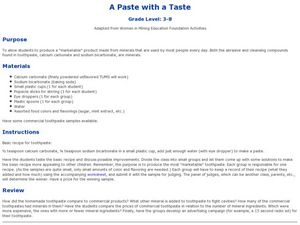 A Paste With A Taste Lesson Plan