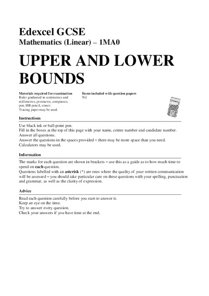 Upper and Lower Bounds Assessment