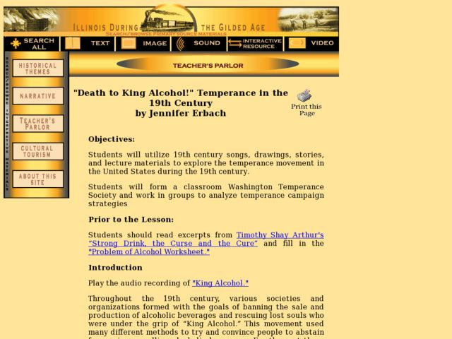 """Death to King Alcohol!"" Temperance in the 19th Century Lesson Plan"