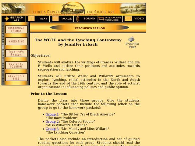 The WCTU and the Lynching Controversy Lesson Plan