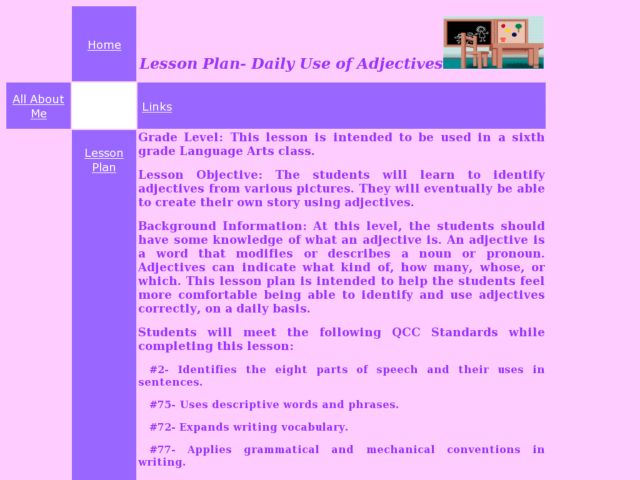 Daily Use of Adjectives Lesson Plan