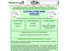 Clothing Store Word Problems Lesson Plan