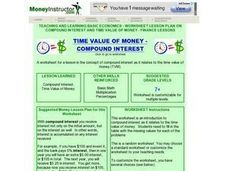 Time Value of Money- Compound Interest Lesson Plan