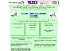 Paying Taxes for Chores Lesson Lesson Plan