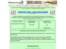 Greater Than - Less Than Lesson Lesson Plan