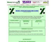 Money Percentages Matching Lesson Plan