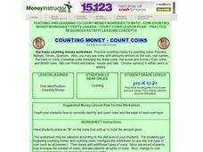 Counting Money- Count Coins        COUNTING MONEY - COUNT COINS Lesson Plan