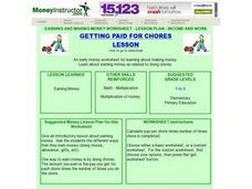 Getting Paid For Chores Lesson Plan
