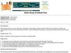 Hula Hoop Football Fun Lesson Plan