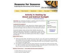 Heating Up: Direct and Indirect Sunlight Lesson Plan