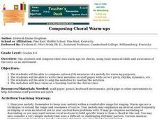 Composing Choral Warm-ups Lesson Plan