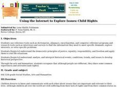 Using the Internet to Explore Issues: Child Rights Lesson Plan