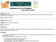 War In The Pacific Lesson Plan
