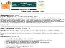 Simulation - Oregon Trail Lesson Plan