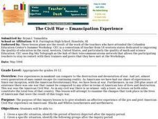 The Civil War: Emancipation Experience Lesson Plan