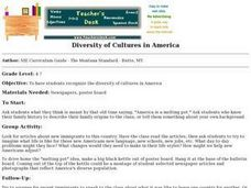 Diversity of Cultures in America Lesson Plan