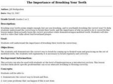 The Importance of Brushing Your Teeth Lesson Plan
