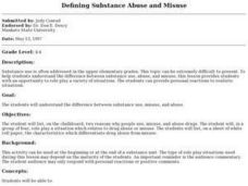 Defining Substance Abuse and Misuse Lesson Plan