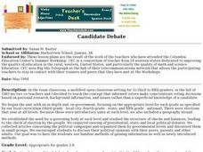 Candidate Debate Lesson Plan