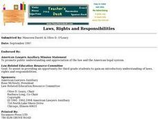 Laws, Rights and Responsibilities Lesson Plan