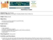 Nutrition Game Lesson Plan