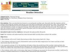 Weather Detective Lesson Plan