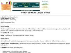 Yellow or White Crayon Resist Lesson Plan